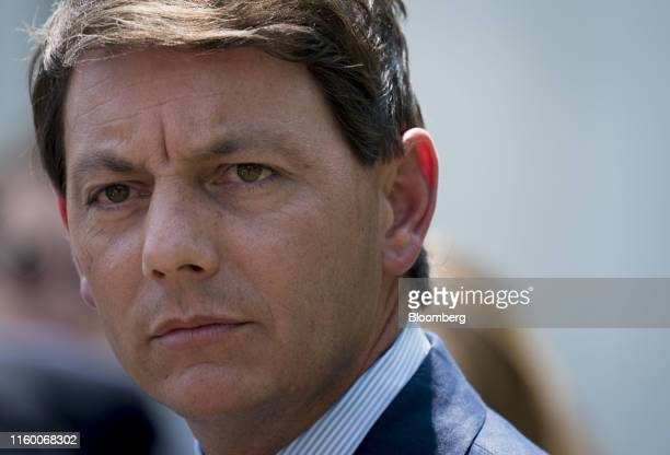 Hogan Gidley White House deputy press secretary listens to a question from a member of the media in Washington DC US on Tuesday Aug 6 2019 Gidley...
