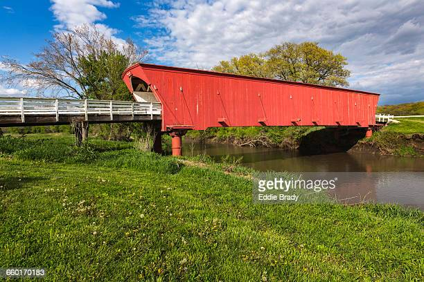 hogback covered bridge - covered bridge stock pictures, royalty-free photos & images