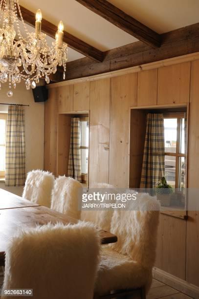 Hohe Mut mountain restaurant on the skiing area Obergurgl Otztal valley Tirol region Austria