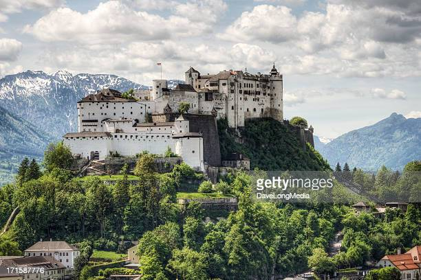 hohensalzburg fortress in austria - austria stock photos and pictures