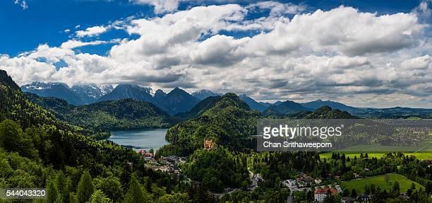 Hohenschwangau Castle and Alpsee lake