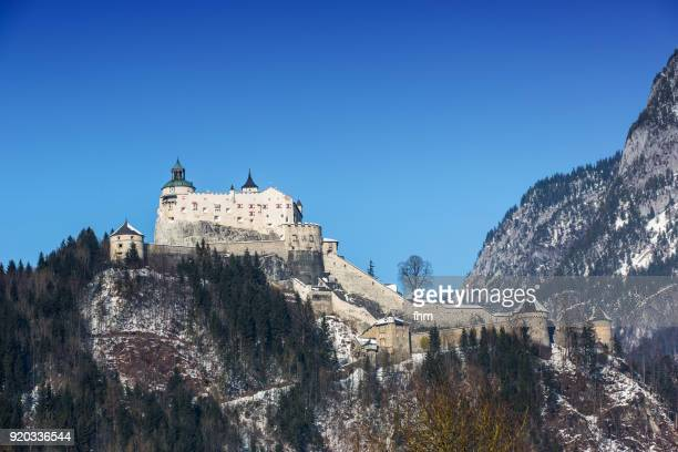 Hohenwerfen Castle in the Alps of Austria (Werfen, Austria)