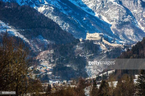 Hohenwerfen Castle in the austrian alps (Werfen, Austria)