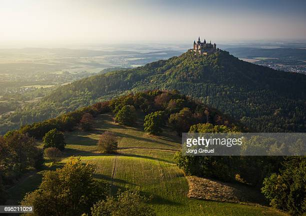Hohenzollern Castle at sunset