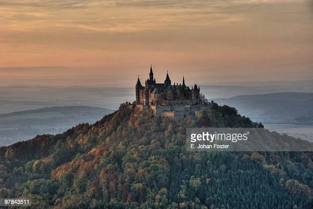 hohenzollern castle - chateau stock pictures, royalty-free photos & images