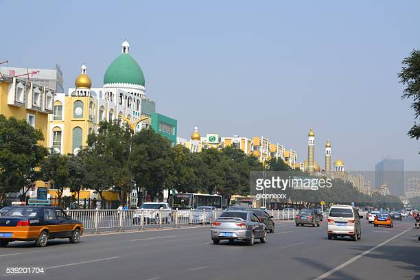 hohhot muslim quarter, inner mongolia, china - hohhot stock pictures, royalty-free photos & images