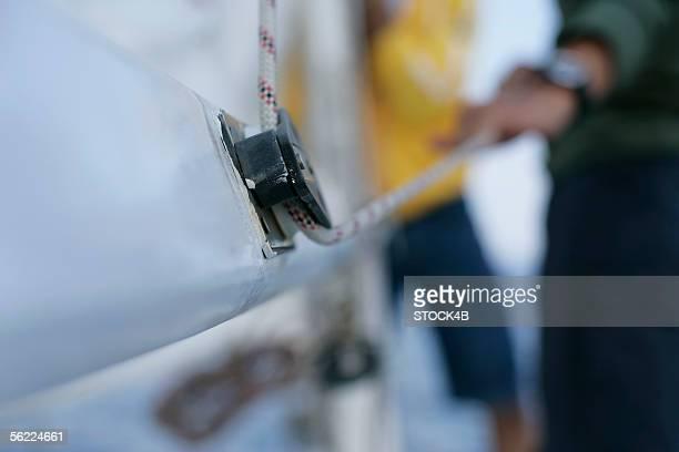 Hoisting of a sail