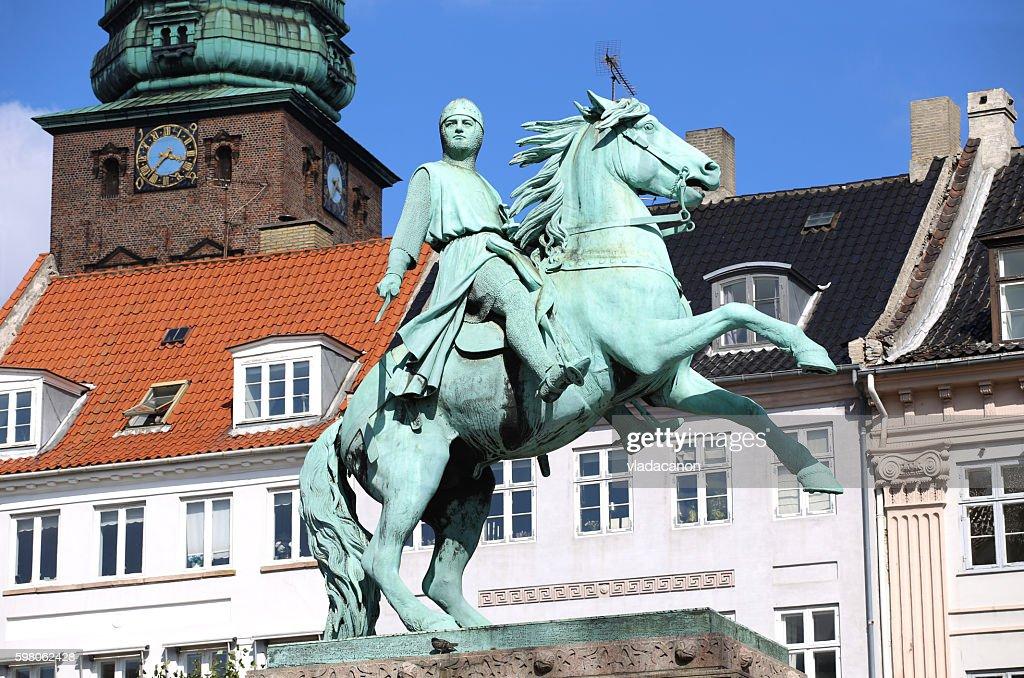 Hojbro Plads Square, Copenhagen, Denmark : Stock Photo