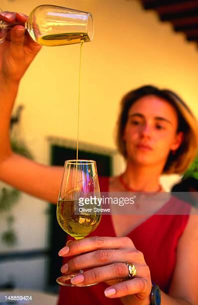 Hojiblanco (Olive Oil) tasting.