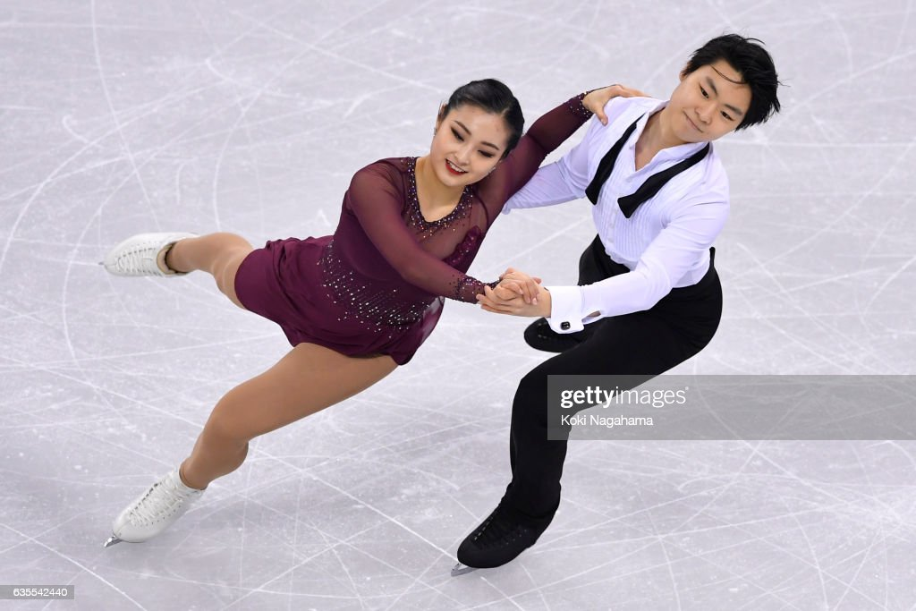 Hojung Lee and Richard Kang In Kam of South Korea comoete in the Ice Dance Short Dance during ISU Four Continents Figure Skating Championships - Gangneung -Test Event For PyeongChang 2018 at Gangneung Ice Arena on February 16, 2017 in Gangneung, South Korea.