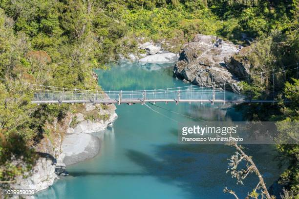 hokitika gorge, new zealand. - unesco stockfoto's en -beelden