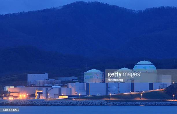 Hokkaido Electric Power Co's Tomari nuclear power plant stands at night in Tomari Village Hokkaido Japan on Saturday May 5 2012 Japan will have no...