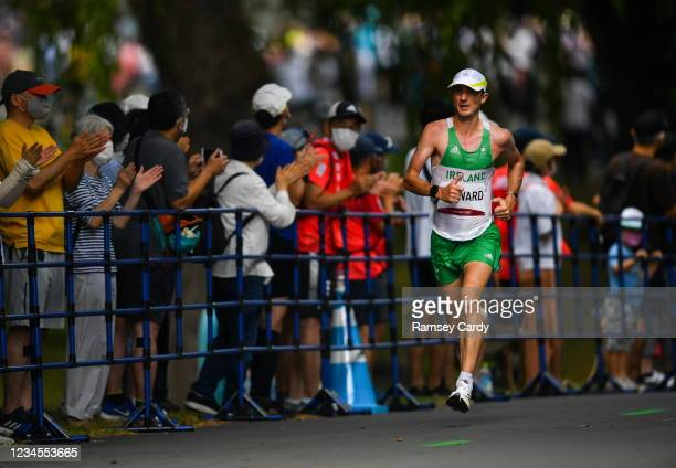 Hokkaido , Japan - 8 August 2021; Kevin Seaward of Ireland in action during the men's marathon at Hokkaido University on day 16 during the 2020 Tokyo...
