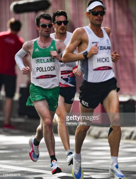 Hokkaido , Japan - 8 August 2021; Paul Pollock of Ireland in action during the men's marathon at Sapporo Odori Park on day 16 during the 2020 Tokyo...