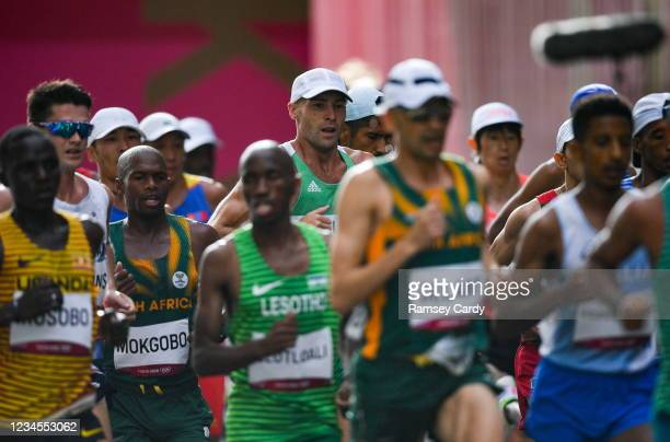 Hokkaido , Japan - 8 August 2021; Stephen Scullion of Ireland in action during the men's marathon at Sapporo Odori Park on day 16 during the 2020...