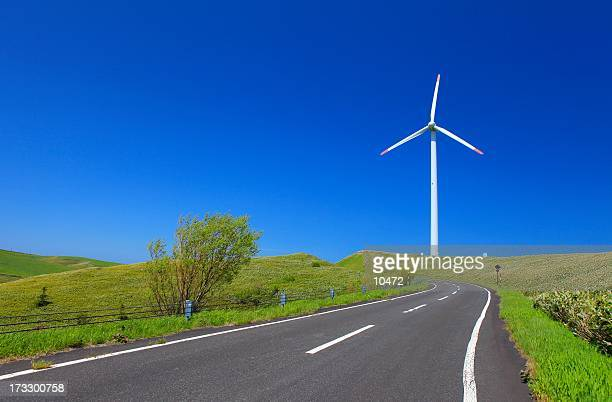 hokkaido - american style windmill stock pictures, royalty-free photos & images