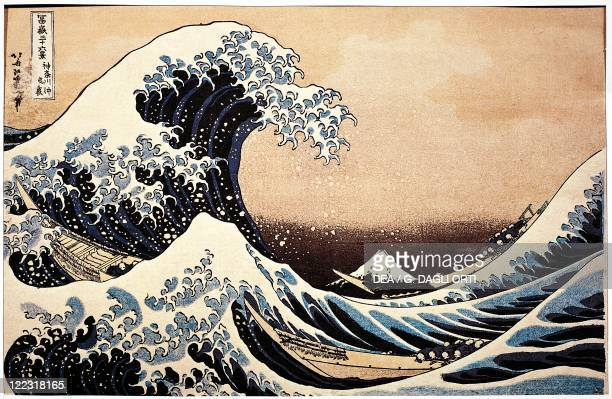 Hokusai The Great Wave The painting inspired Debussy for the cover of La Mer