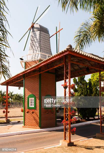 Holambra city entrance decorated with a windmill