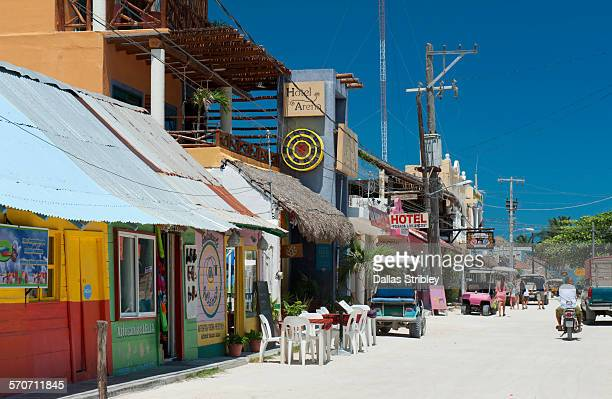 holbox island street scene - 2015 stock pictures, royalty-free photos & images