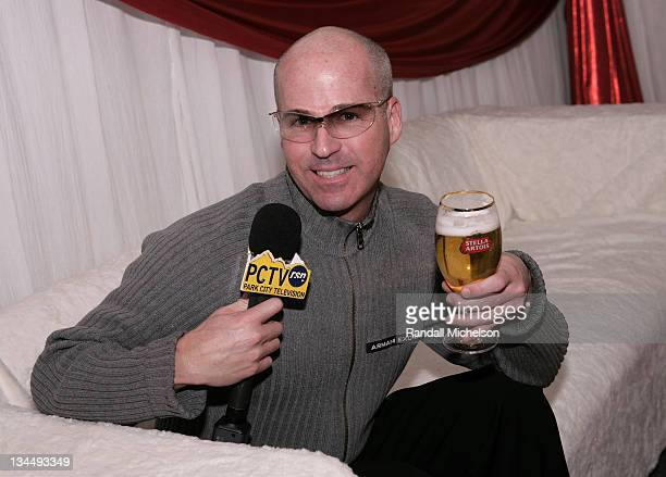 JR Holbrook of Park City Television attends the Stella Artois Cutting Room during the 2008 Sundance Film Festival at the Sundance House on January 18...