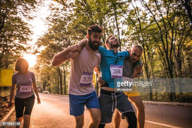 hold on, we will help you! - endurance stock photos and pictures
