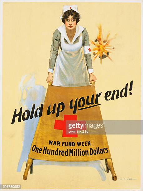 Hold Up Your End! War Fund Week - One Hundred Million Dollars Poster by W.B. King