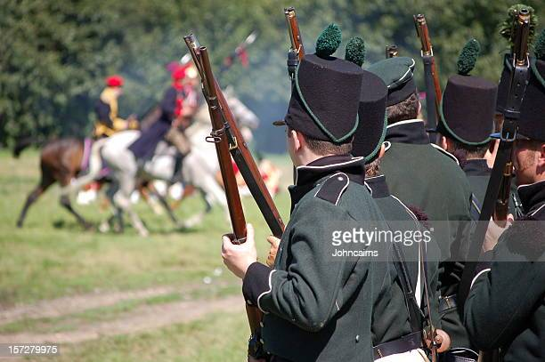 hold your ground. - historical reenactment stock pictures, royalty-free photos & images