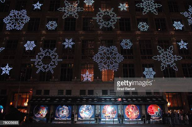 Holday windows are displayed at the lighting of the Saks Holiday windows on November 19 2007 in New York City