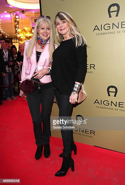Holde Hoyer and Claudia Carpendale during the 50th Anniversary of AIGNER on April 16 2015 in Munich Germany