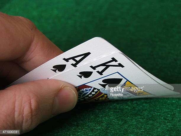 hold'em: big slick - texas hold 'em stock photos and pictures