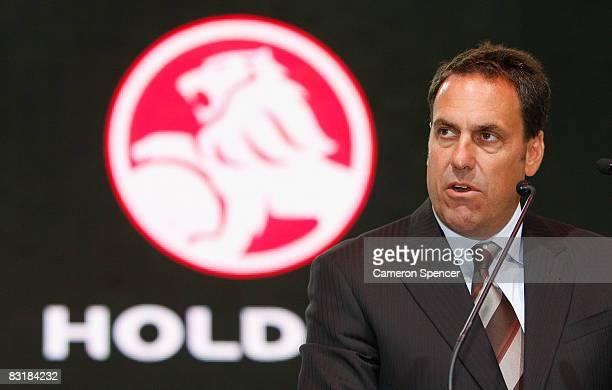 Holden Chairman and Managing Director Mark Reuss talks during the Australian International Motorshow at the Sydney Convention Exhibition Centre...