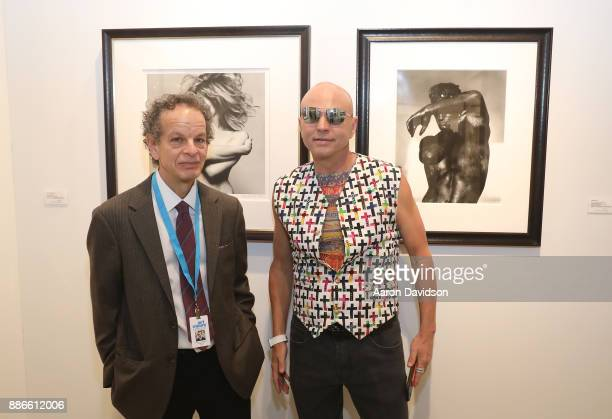 Holden Luntz and Art Dealer Poet Jimmy D Robinson attend Art Miami VIP Kickoff at Art Miami Pavilion on December 5 2017 in Miami Florida