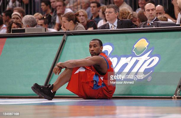 JR Holden of CSKA Moscow waits to check into the game during the NBA Europe Live Tour presented by EA Sports on October 10 2006 at the Koeln Arena in...
