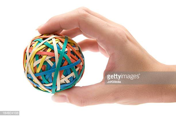 Holding a Rubber Ball