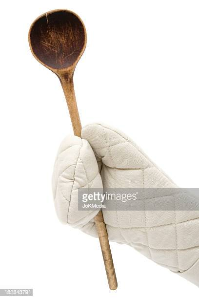 Holding a Wooden Spoon