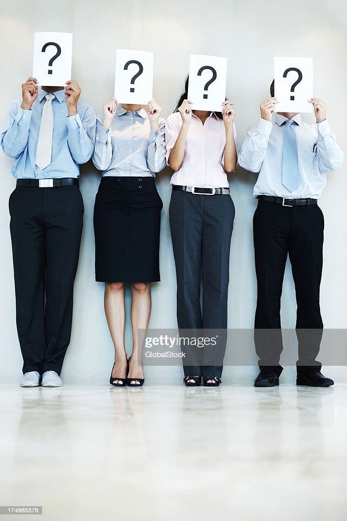 Holding all the answers? : Stock Photo