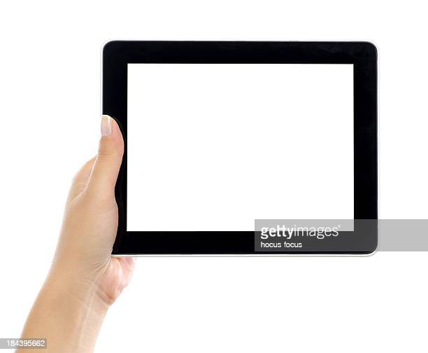 Holding and showing digital tablet