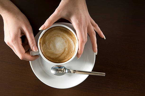 Holding Cappuccino
