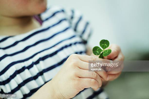 Holding clover