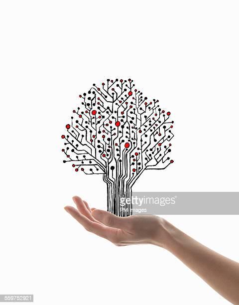 Holding electronic tree