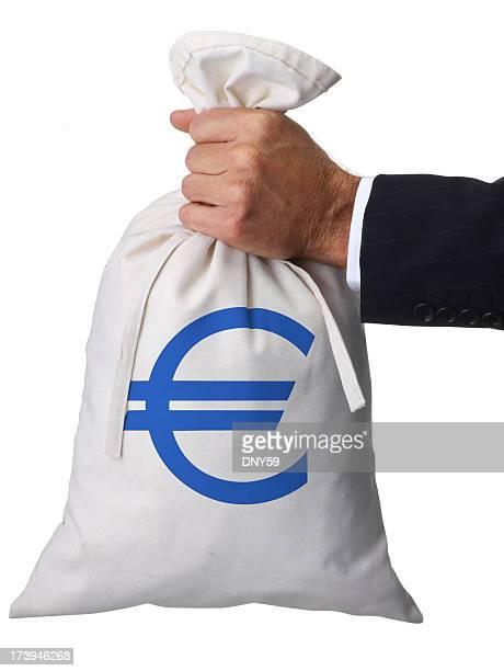 Retención Euro bolsa de dinero