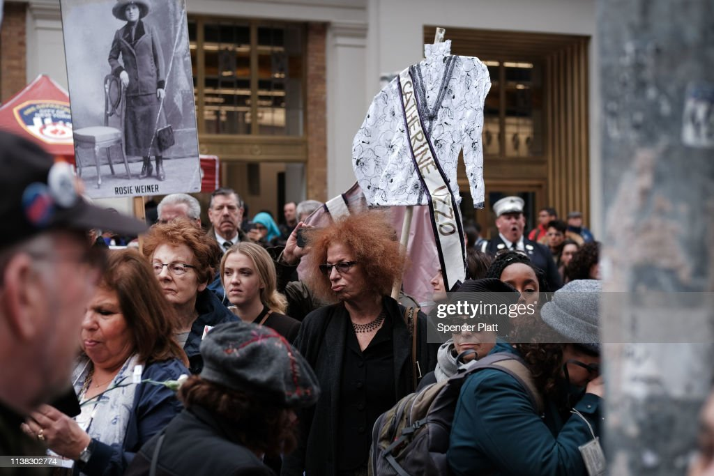 NY: Commemoration Marks 108th Anniversary Of Tragic Triangle Shirtwaist Fire In New York