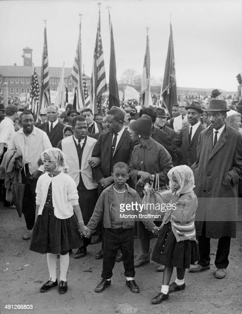 Holding hands in Montgomery, Alabama at the culmination of the Selma to Montgomery March, March 1965.