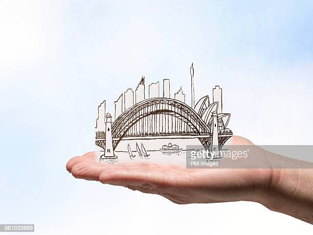 Holding Illustrated Sydney Austalia