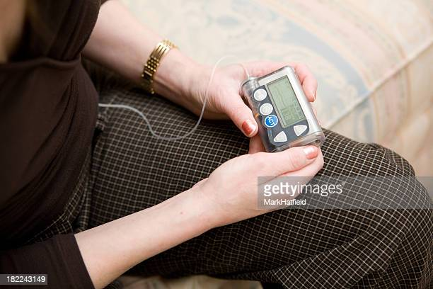 Holding Insulin Pump