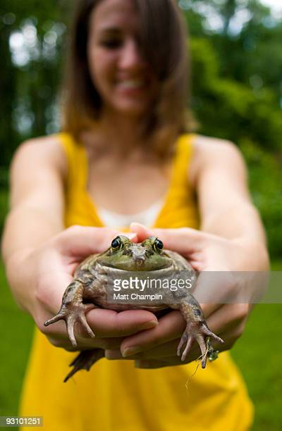 holding mr. bullfrog - bullfrog stock pictures, royalty-free photos & images