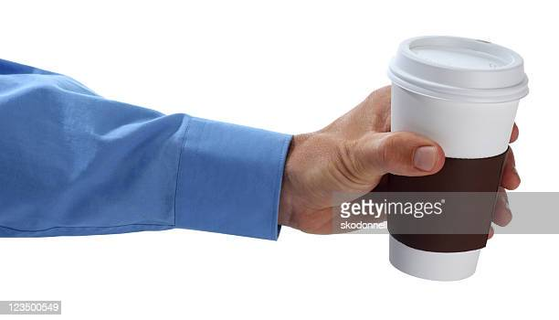 holding out a cup of coffee - long sleeved stock pictures, royalty-free photos & images