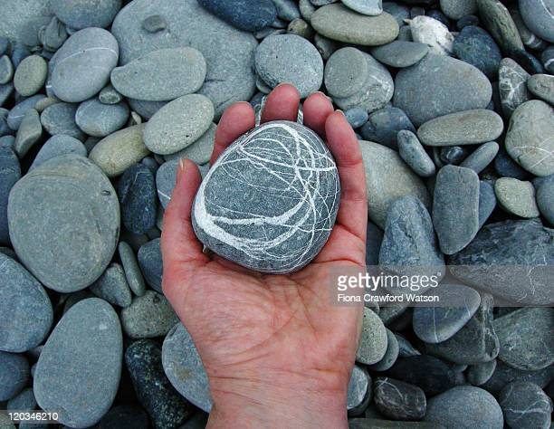 holding pebble - pebble stock pictures, royalty-free photos & images