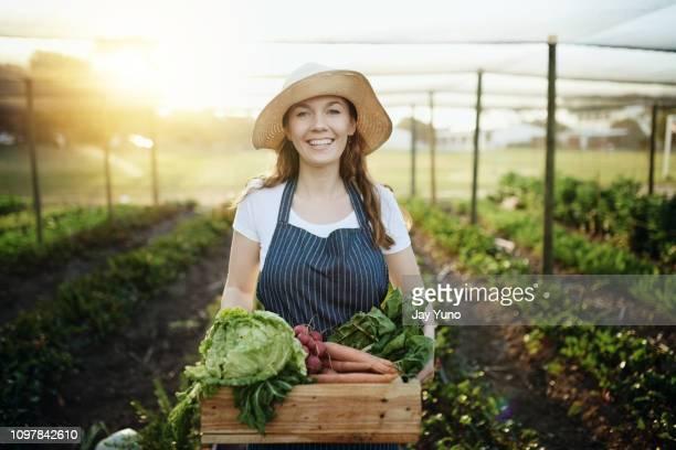 Holding pure organic goodness