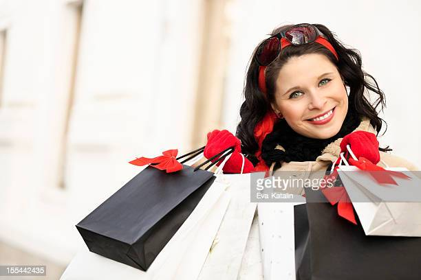Holding shopping bags